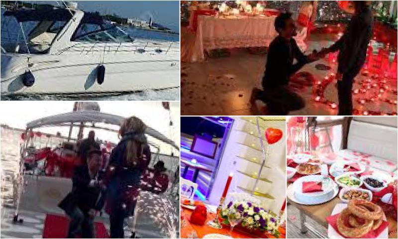 Tekne İle Evlenme Teklifi Organizasyonu